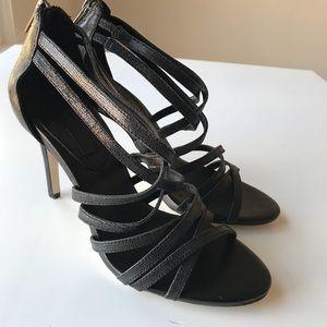 Banana Republic Black Strap Sandal Heels Size 7